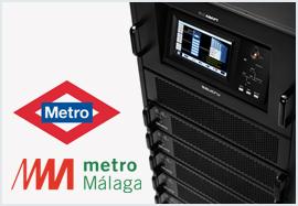 SAIs modulares de Salicru para los Metros de Madrid y Málaga