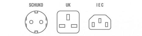 Formate der verfügbaren Steckdosen